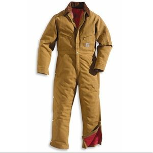 Carhartt size 48 NWT brown duck insulated coverall